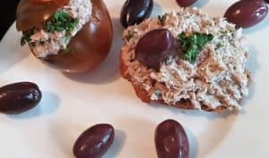 Tomates farcies aux sardines et chèvre frais