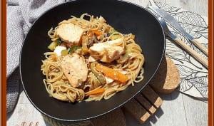 Nouilles au saumon et légumes