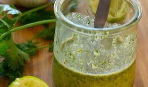 Vinaigrette acidulée coriandre-citron vert