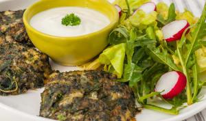 Galette de quinoa aux épinards et orties