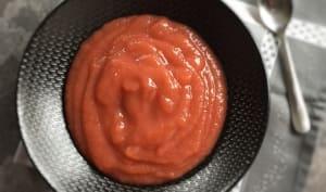 Compote fraises rhubarbe