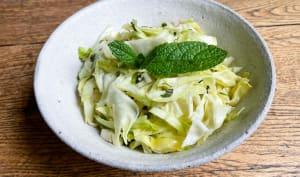 Salade de chou pointu à la menthe