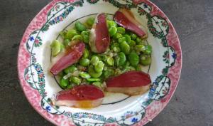 Cassolette de fèves au magret séché