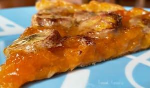 La tarte aux abricots-pays et banane