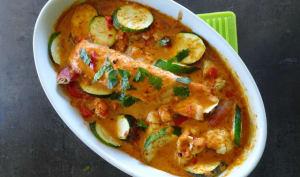 Saumon thaï aux légumes