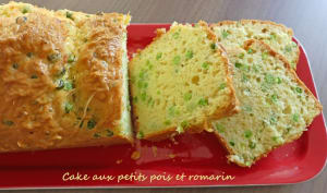 Cake aux petits pois et romarin