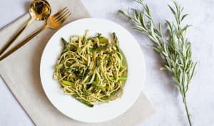 Pâtes aux asperges vertes et pesto