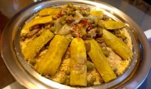 Couscous printanier marocain aux légumes verts