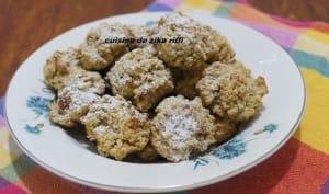Biscuits aux flocons d'avoine et confiture d'abricot