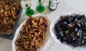 Moules au vin blanc