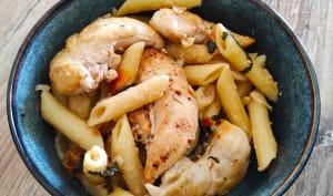 Pastasotto aux aiguillettes de poulet au citron