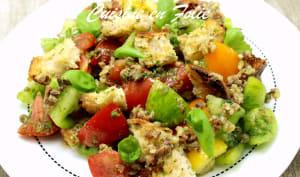 Salade de tomates aux anchois et aux câpres