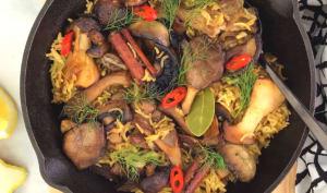 Riz pilaf aux champignons sauvages