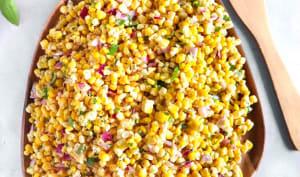 Salsa de maïs frais