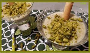 Riz au lait à la pâte de pistache
