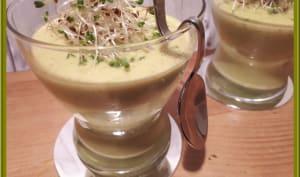 Velouté de courgettes au lait de coco