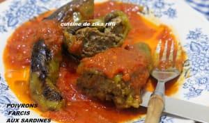Poivrons farcis aux sardines sauce tomate fraîche