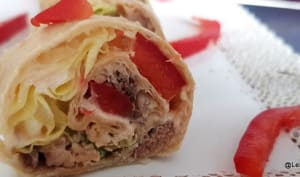 Wrap apéritif aux sardines et fromage de chèvre fais