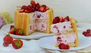 Charlotte fraises framboises