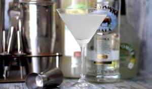 Cocktail Vodka Manzana et sirop d'orgeat