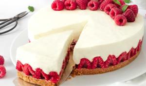 Cheesecake sans cuisson aux framboises