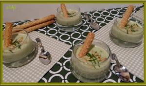 Soupe glacée de concombre