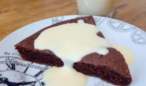Le brownie et sa crème anglaise