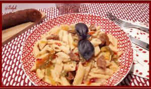 One pot Pasta chorizo et poivrons