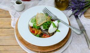 Dos de cabillaud et escalivade de légumes