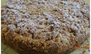 Gâteau citron framboises avec streusel