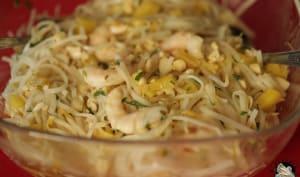 Salade chinoise ananas crevettes