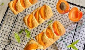 Financiers aux abricots bergeron, verveine citronnelle et huile d'olive