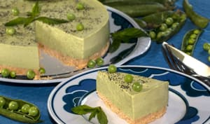 Cheesecake petits pois et menthe