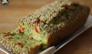 Cake au poivron et fanes de radis
