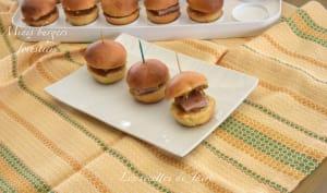 Minis burgers au pâté forestier
