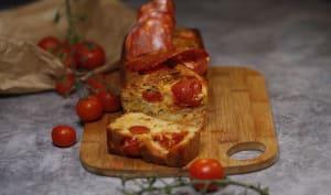 cake épicé tomates et chorizo