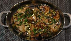Foies de lapin poêlés à l'ail et au persil