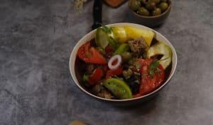 Salade panzanella au pain de seigle