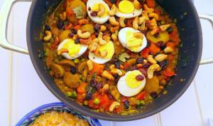 Curry végétarien aux œufs