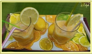 Jus de citrons oranges très frais