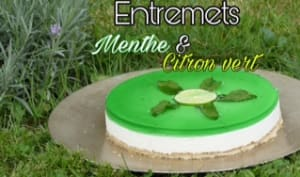 Bavarois citron vert et menthe au Thermomix