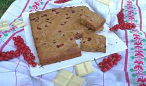 Cookie géant aux groseilles et chocolat blanc