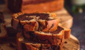 Cake marbré healthy au chocolat noir sans beurre