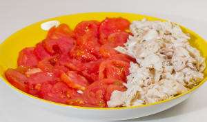 Salade de daurade aux tomates
