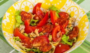 Salade de moules au chorizo