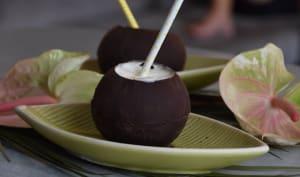 Trompe l'oeil noix de coco