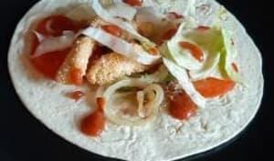 Tortillas mexicaines poulet et tomate