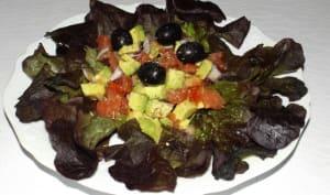 Salade express avocat et tomates