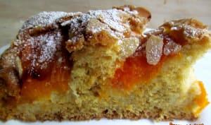 Gâteau nuage amandes et abricots