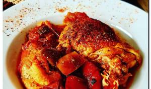 Poulet basquaise au jambon de Bayonne